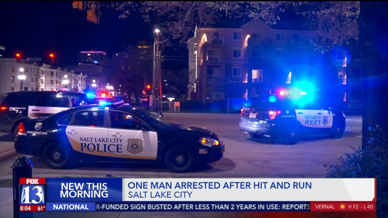 Driver suspected of DUI arrested for hit-and-run crash in Salt Lake City