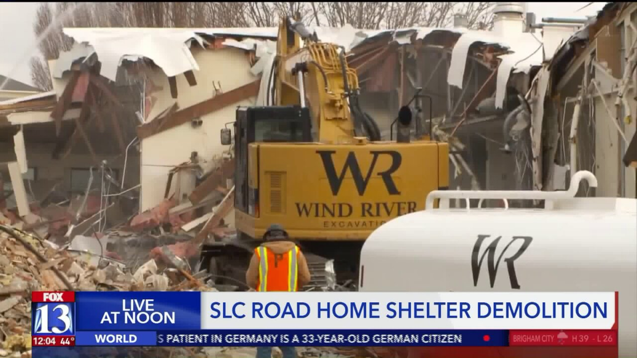 The Road Home shelter in Salt Lake City being demolished