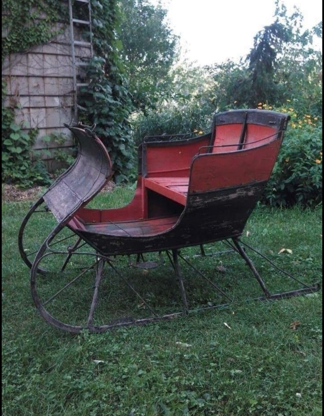 The sleigh Fuchs bought is from the 1890's.
