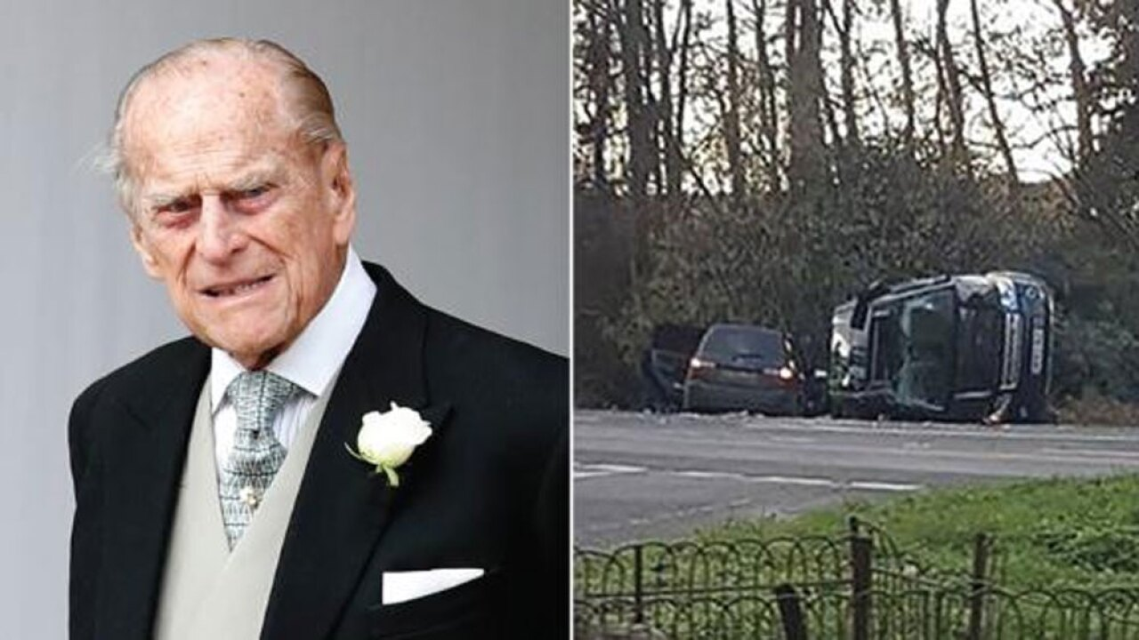 Prince Philip seen driving without seatbelt after crash