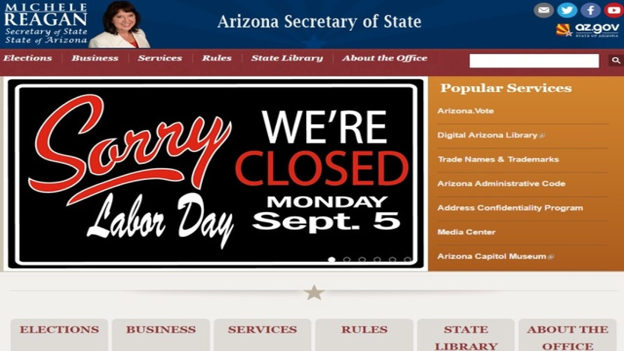 Arizona election website plagued by errors