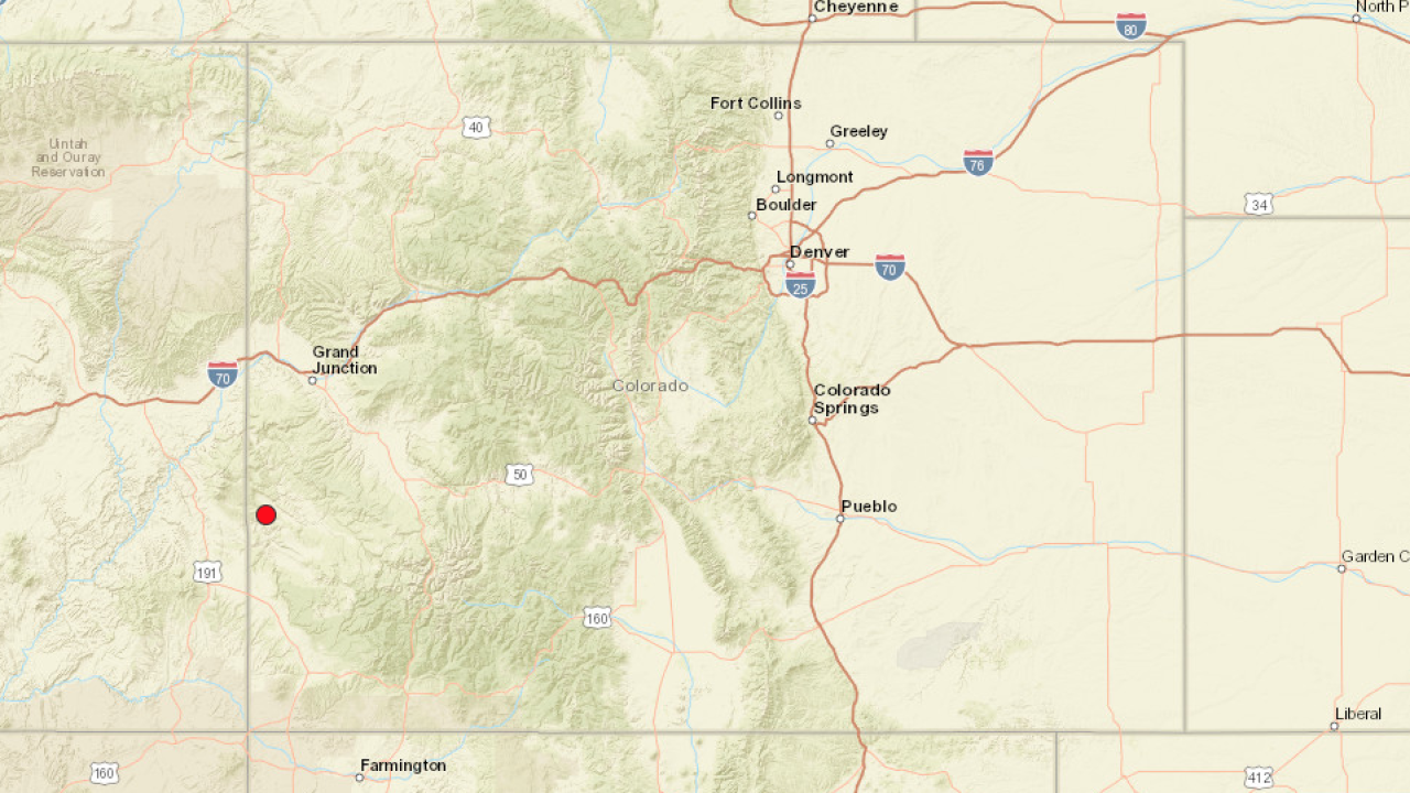 Small earthquake reported near Colorado-Utah state line