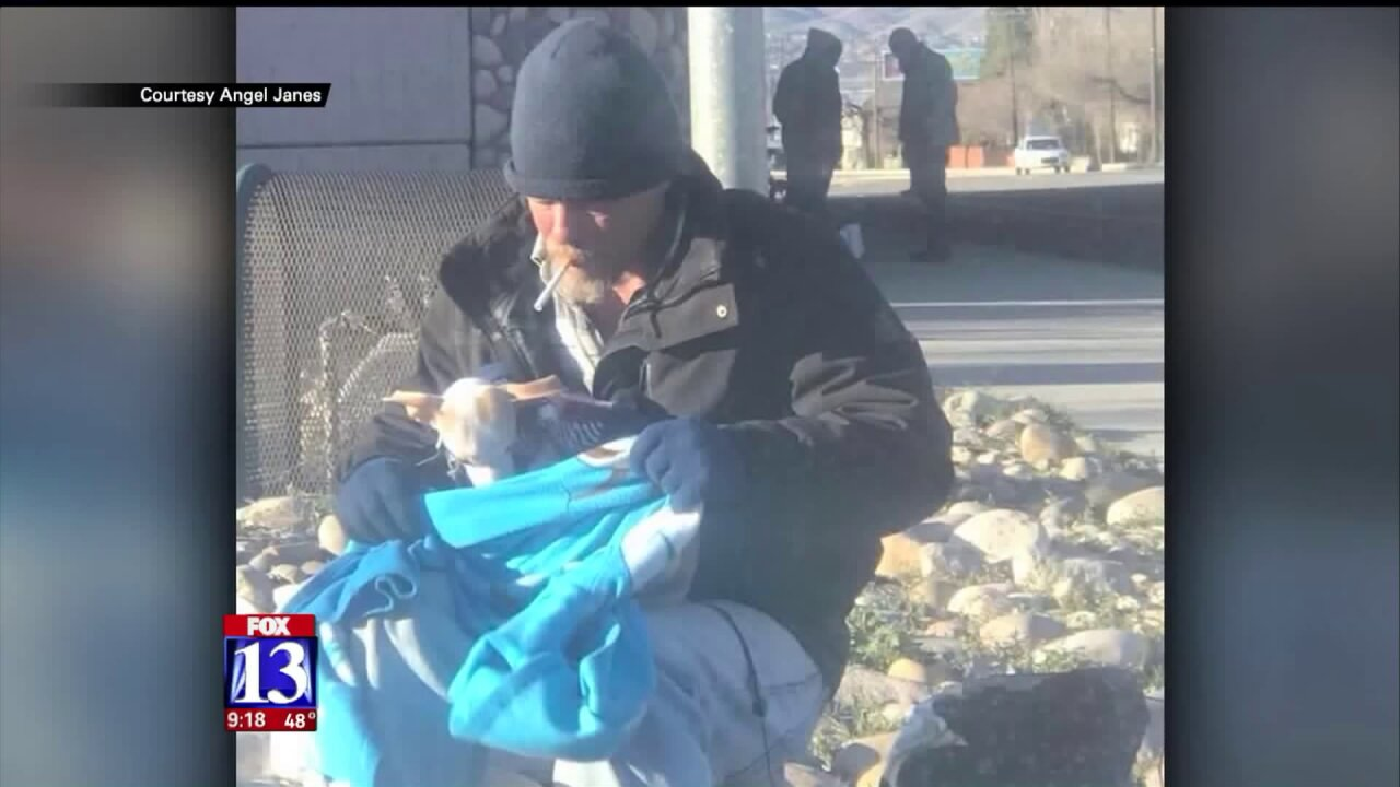 Homeless SLC man saves abandoned pup, gets unexpected surprise