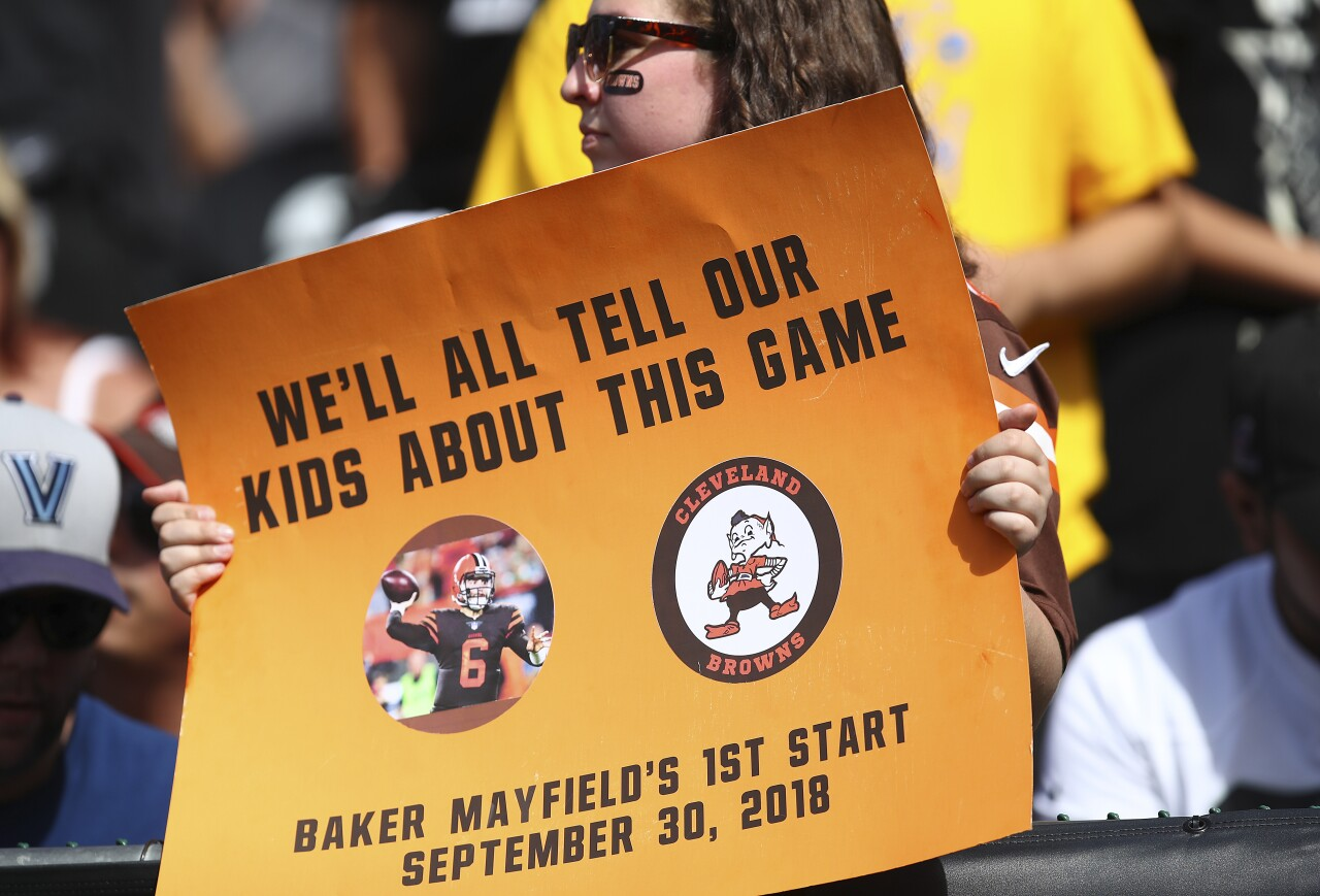 Baker Mayfield first start sign