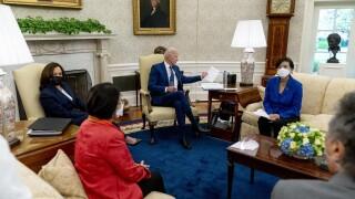 Joe Biden, Kamala Harris, Mazie Hirono, Judy Chu, Mark Takano