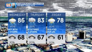 Better Chances for Storms