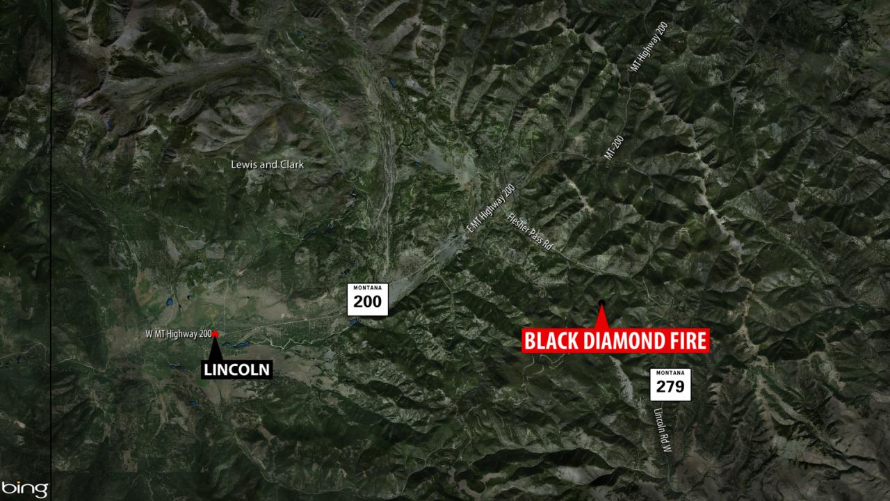 Black Diamond Fire map