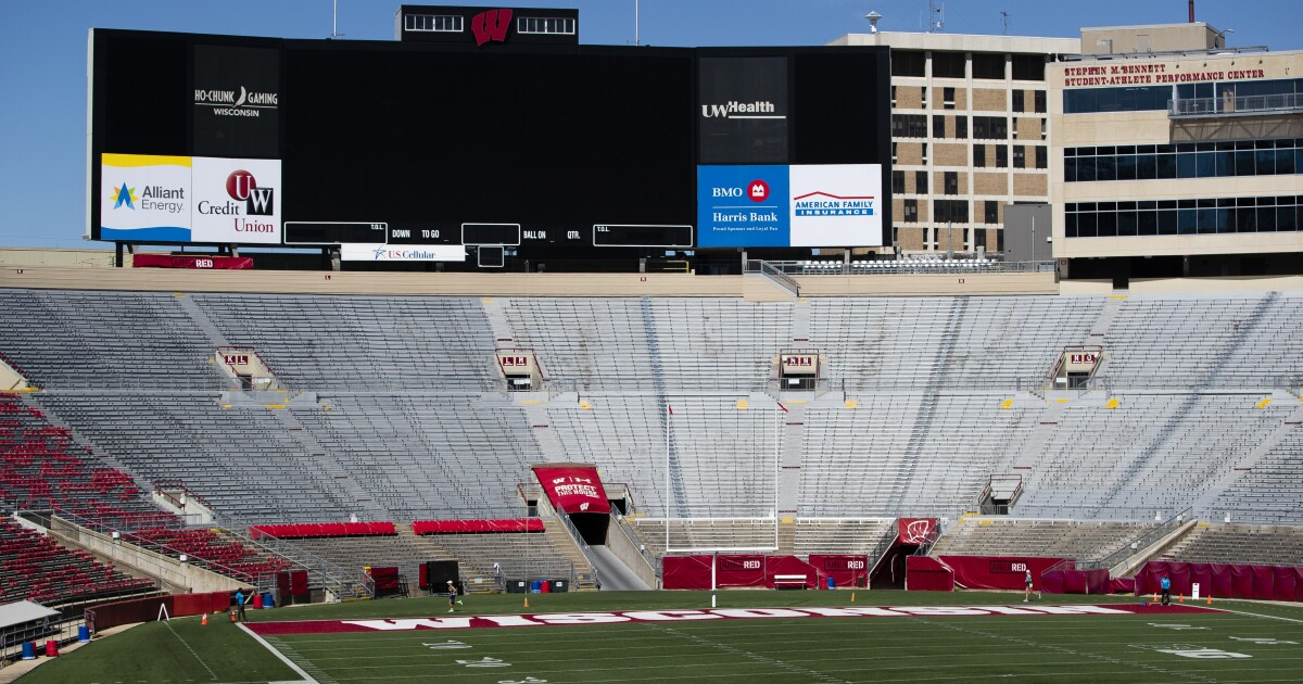 Wisconsin April Fools Day Prank >> Wisconsin Athletics Discontinues Jump Around Tradition In April
