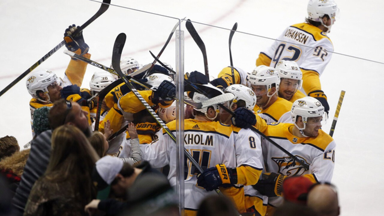 Ekholm scores in OT, Predators rally to beat Stars 5-4