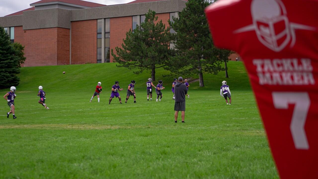 Carroll College football practice