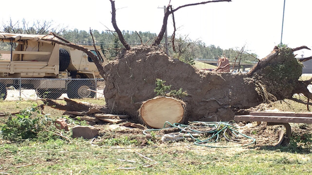 Hail, hurricane force winds pound Pine Bluffs