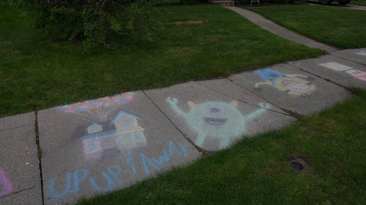 Chalk art by the Nesbitts