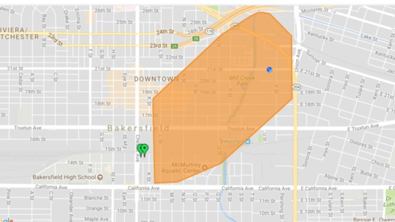 Power fully restored in Downtown Bakersfield