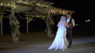 Jerry and Lesly Sanchez dance at wedding