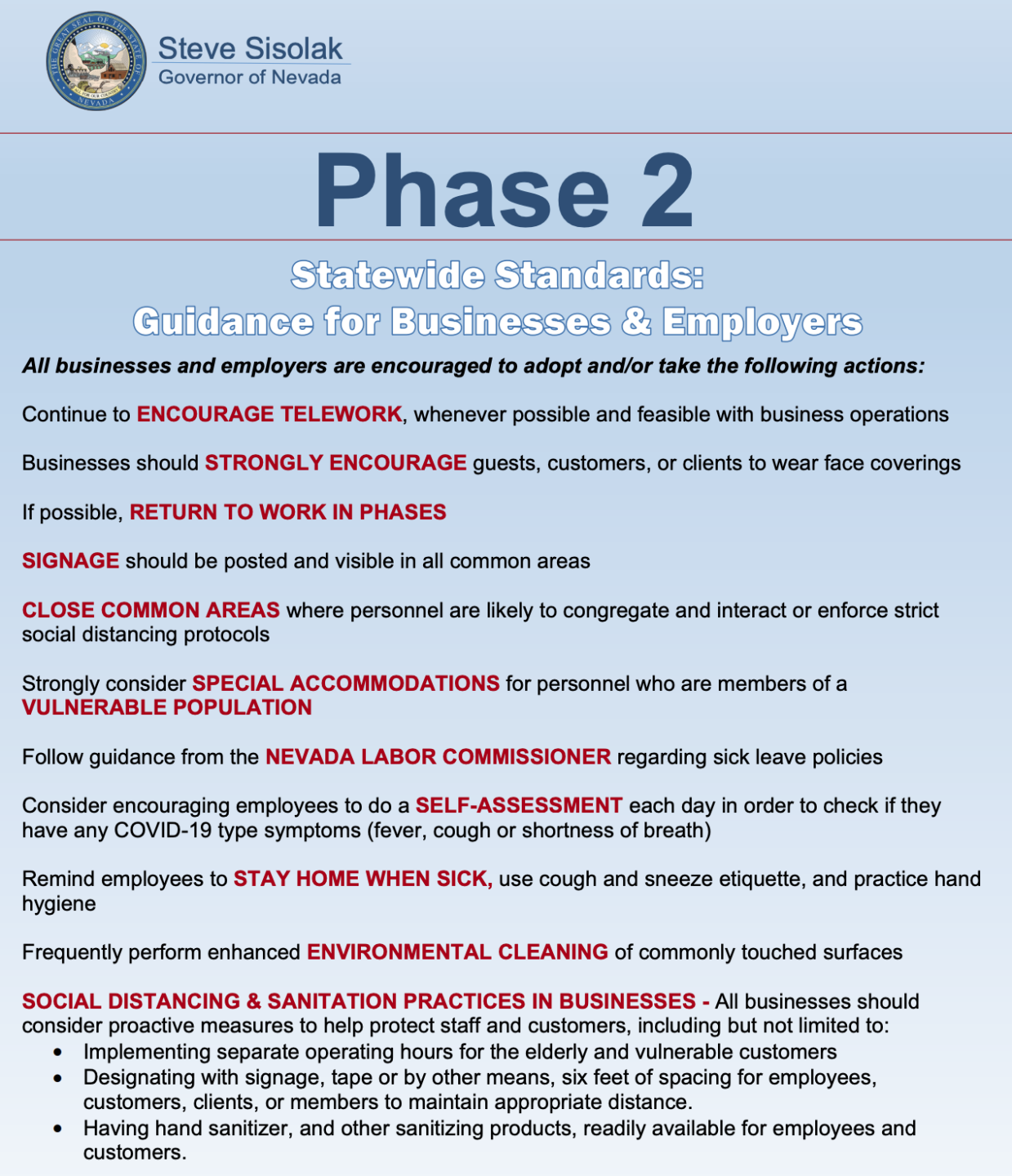 Phase 2 Directive For Nevada Explained