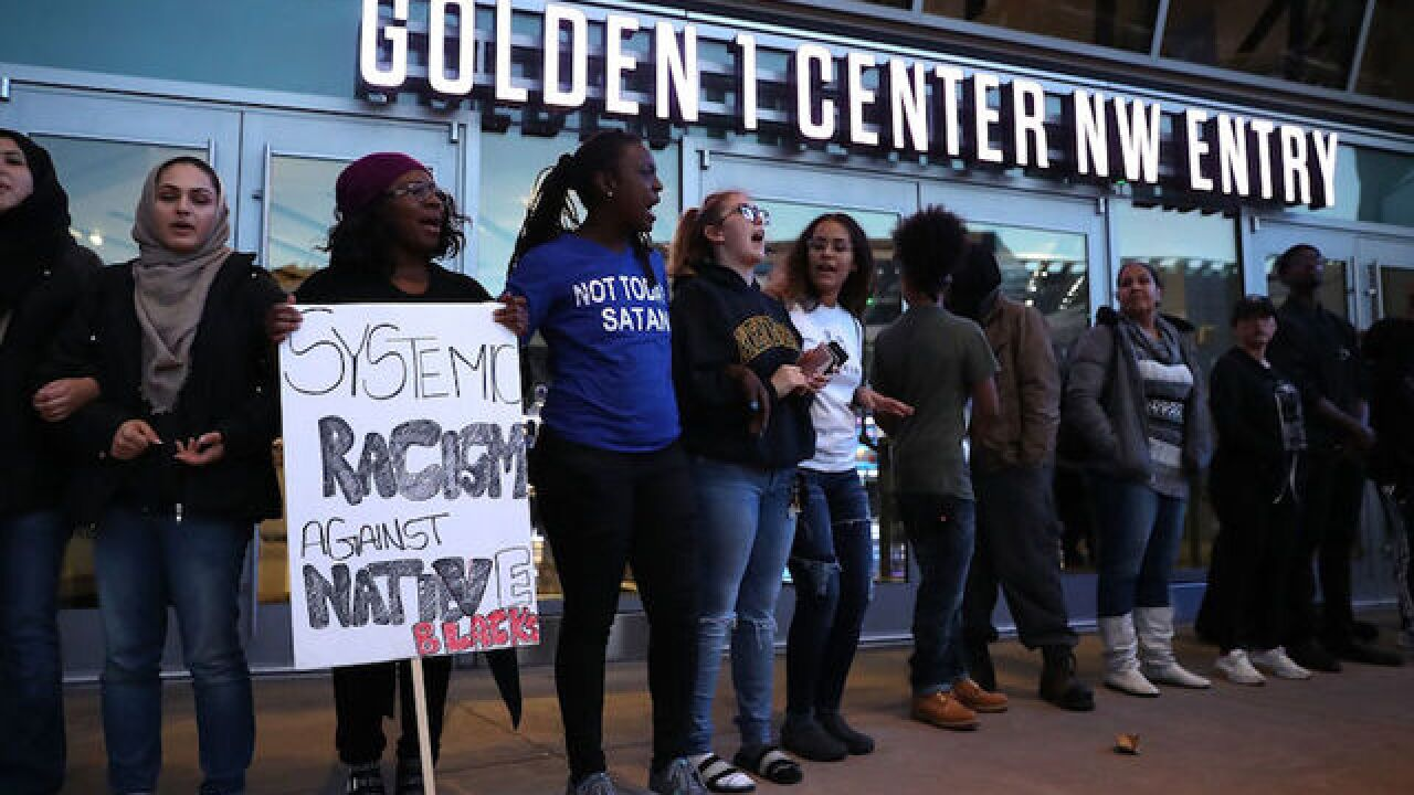 Protests delay NBA game, fans not allowed to enter arena after shooting of unarmed black man