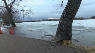 Ice jam triggers possibility of minor flooding in Great Falls