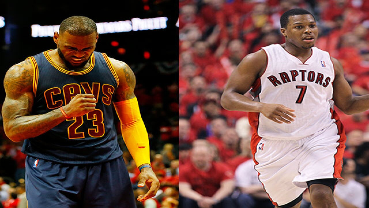38e748e6193 LeBron James once stood in Kyle Lowry s sneakers.