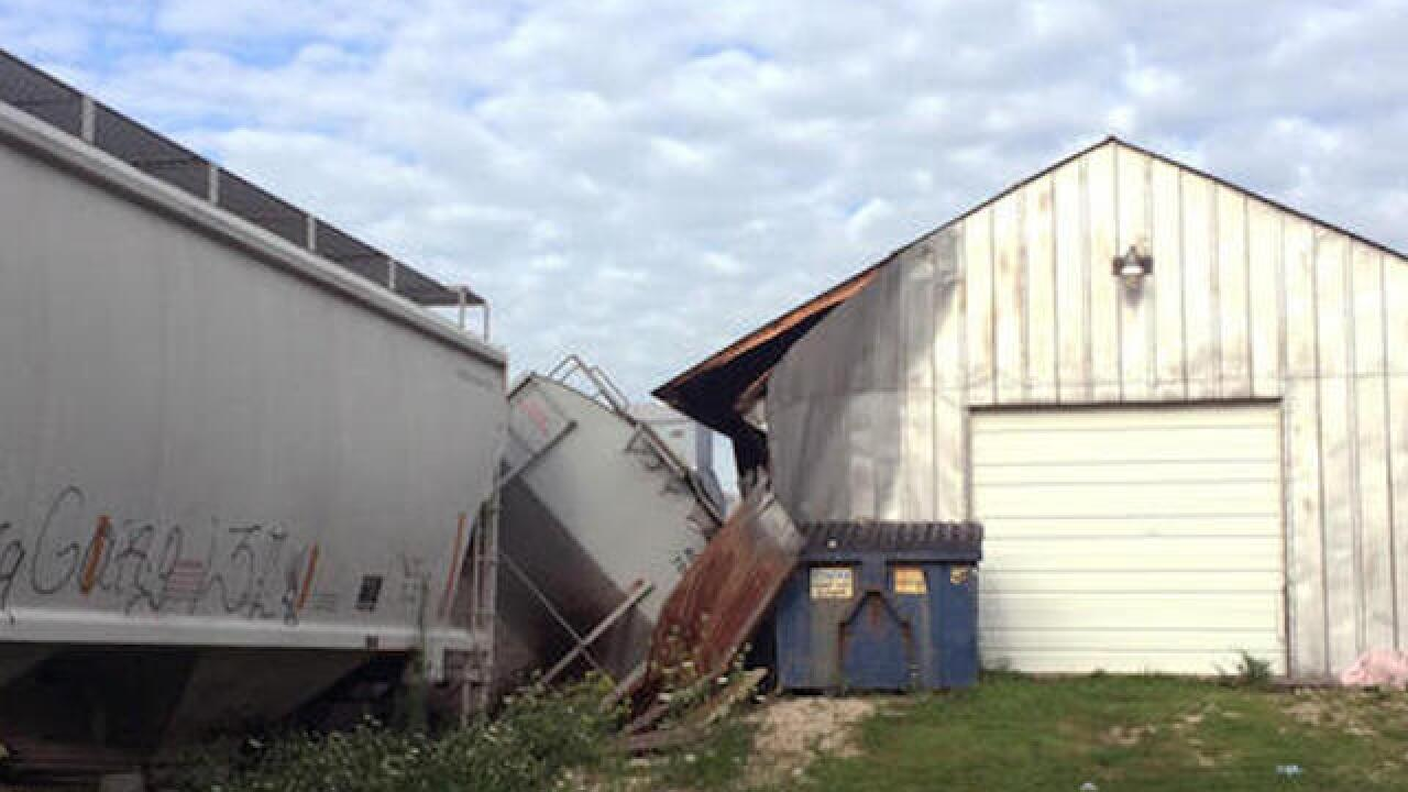 Derailed train in Iowa hits bar called 'DeRailed'