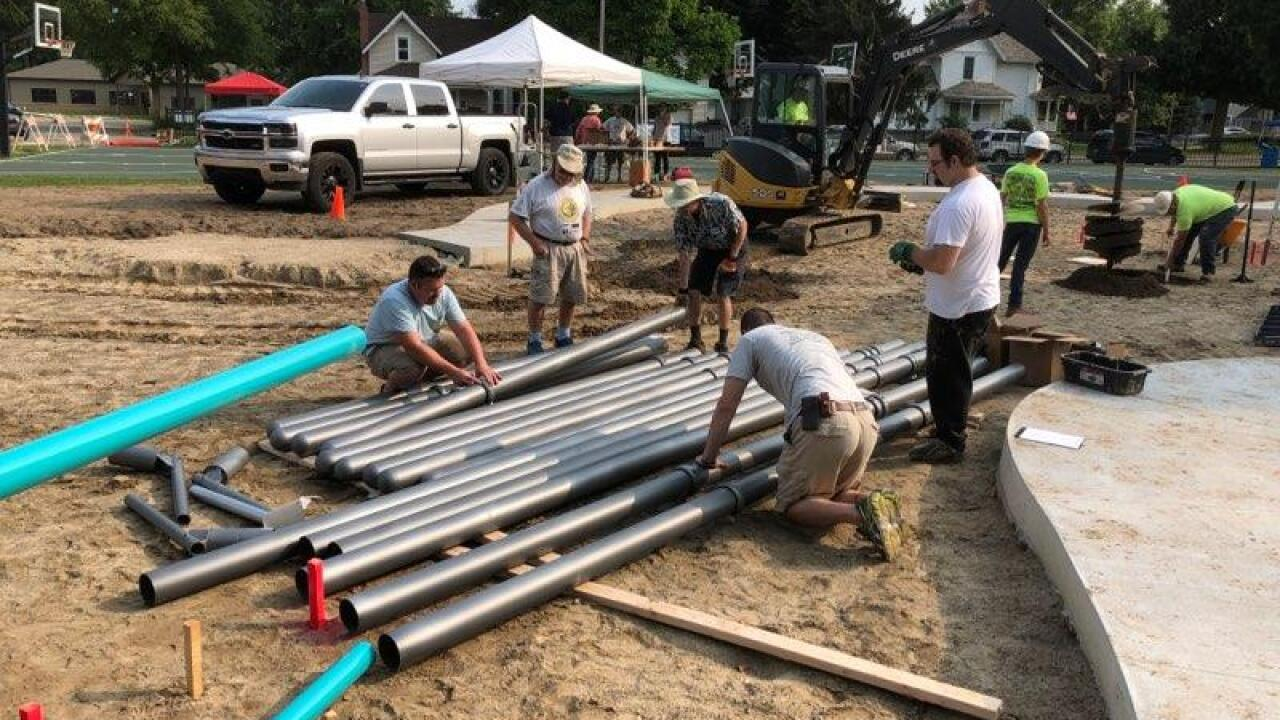 Volunteers complete new Williamston playground