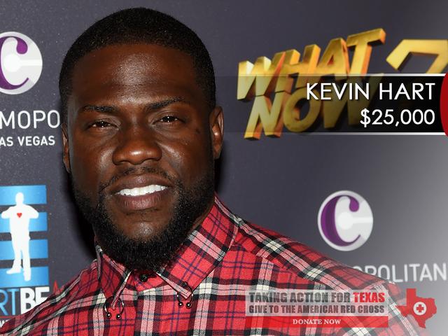 Hurricane Harvey: Celebrities donate thousands to Texas relief efforts
