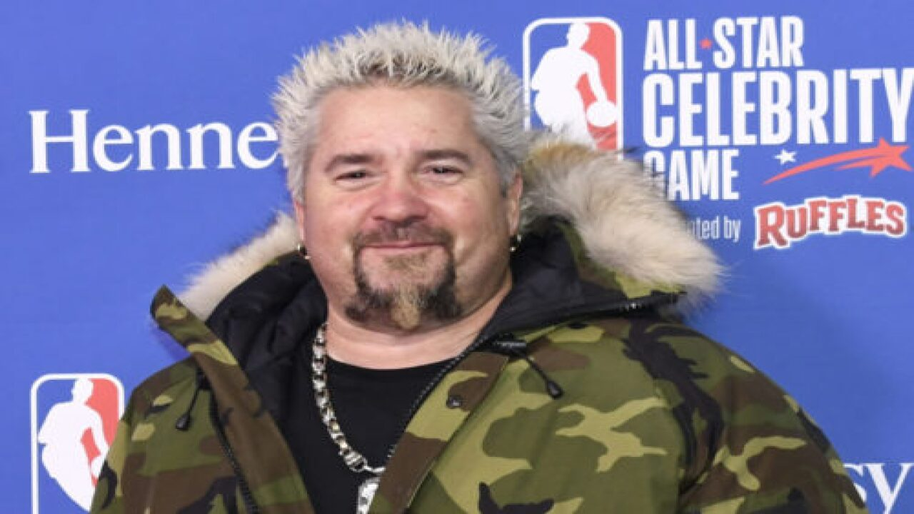 Guy Fieri Is Personally Handing Out Lunch To First Responders