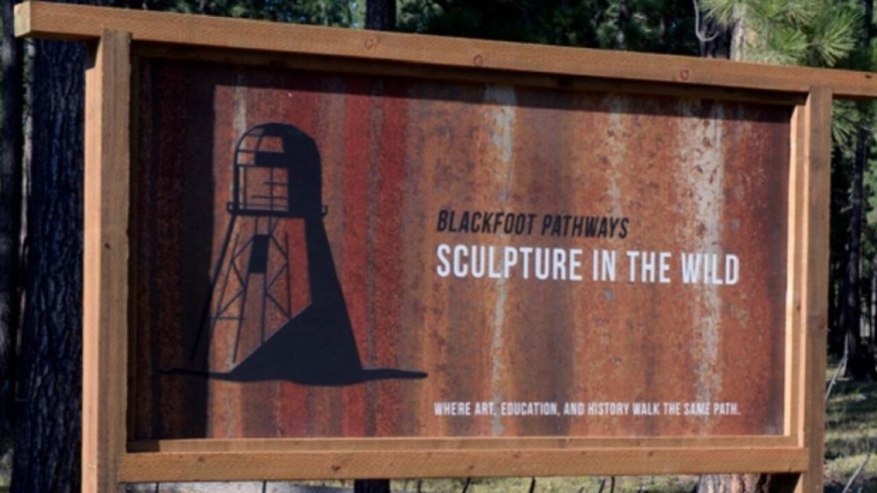 """Blackfoot Pathways: Sculpture in the Wild"" among Montana tourism award winners"