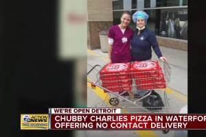 Chubby Charlies Pizza in Waterford offering no contact delivery