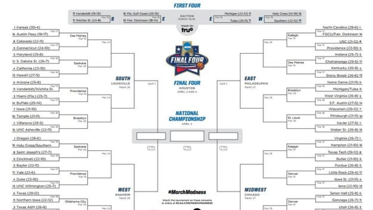 NCAA investigating bracket leak