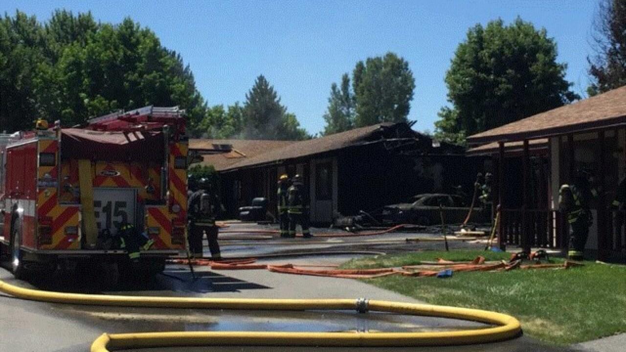 Crews battle two-alarm fire in east Boise