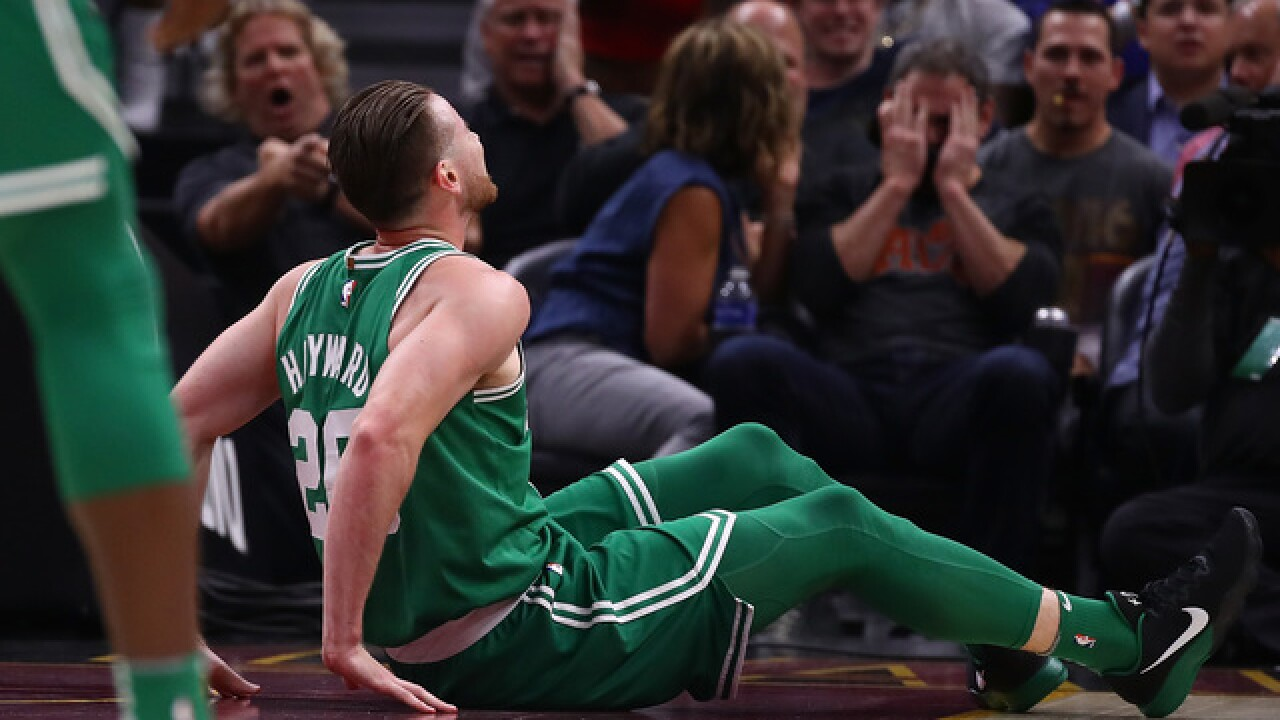 Celtics' Gordon Hayward suffers ankle injury in the first quarter