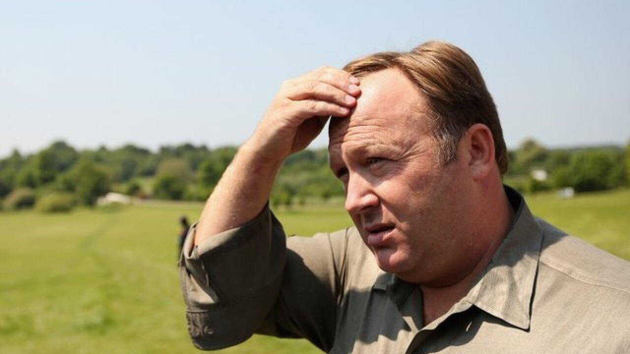 Twitter suspends conspiracy theorist Alex Jones for one week
