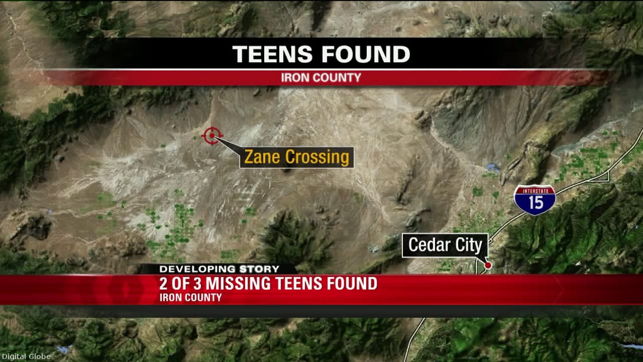 Three runaway Beaver County teens found in Iron County