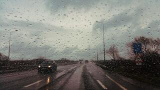 File image of rain while driving.