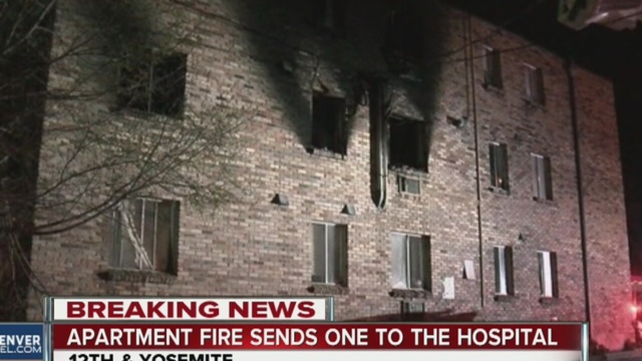 One hurt, 20 forced out by apartment fire