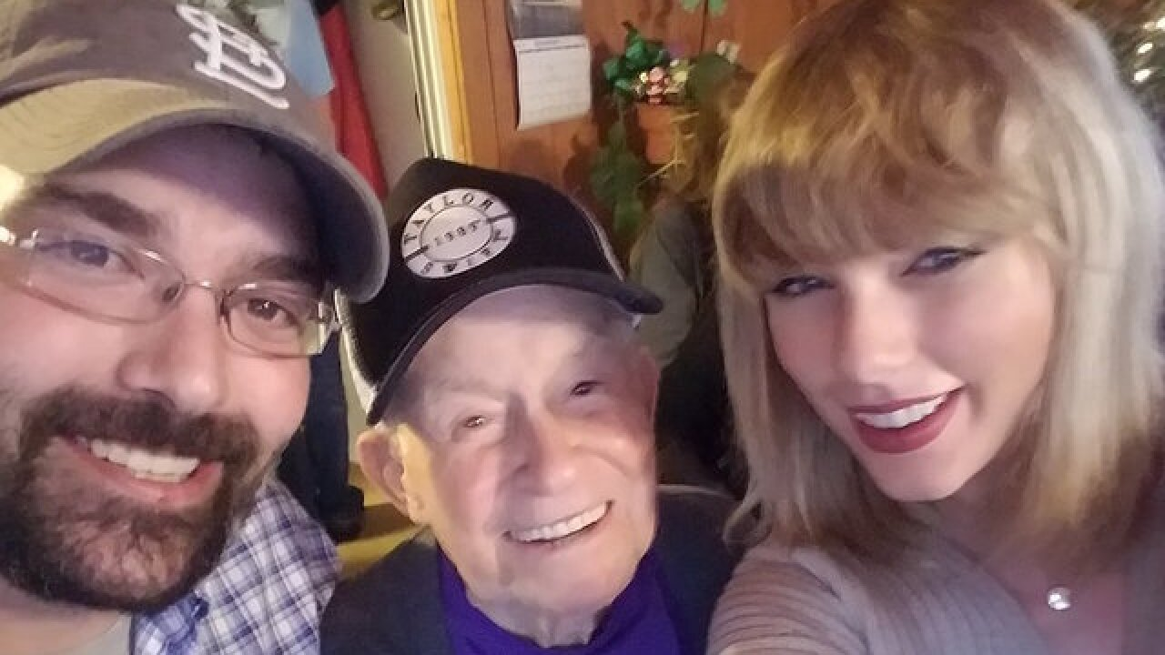 Taylor Swift surprises 96-year-old WWII veteran over the holidays