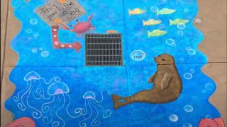 Storm drain mural project in Santa Maria