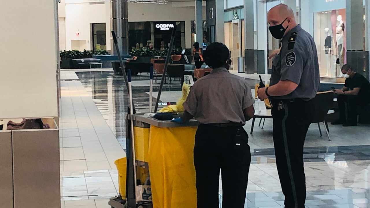 All employees at the Town Center of Boca Raton are required to wear face mask after reopening on Wednesday.