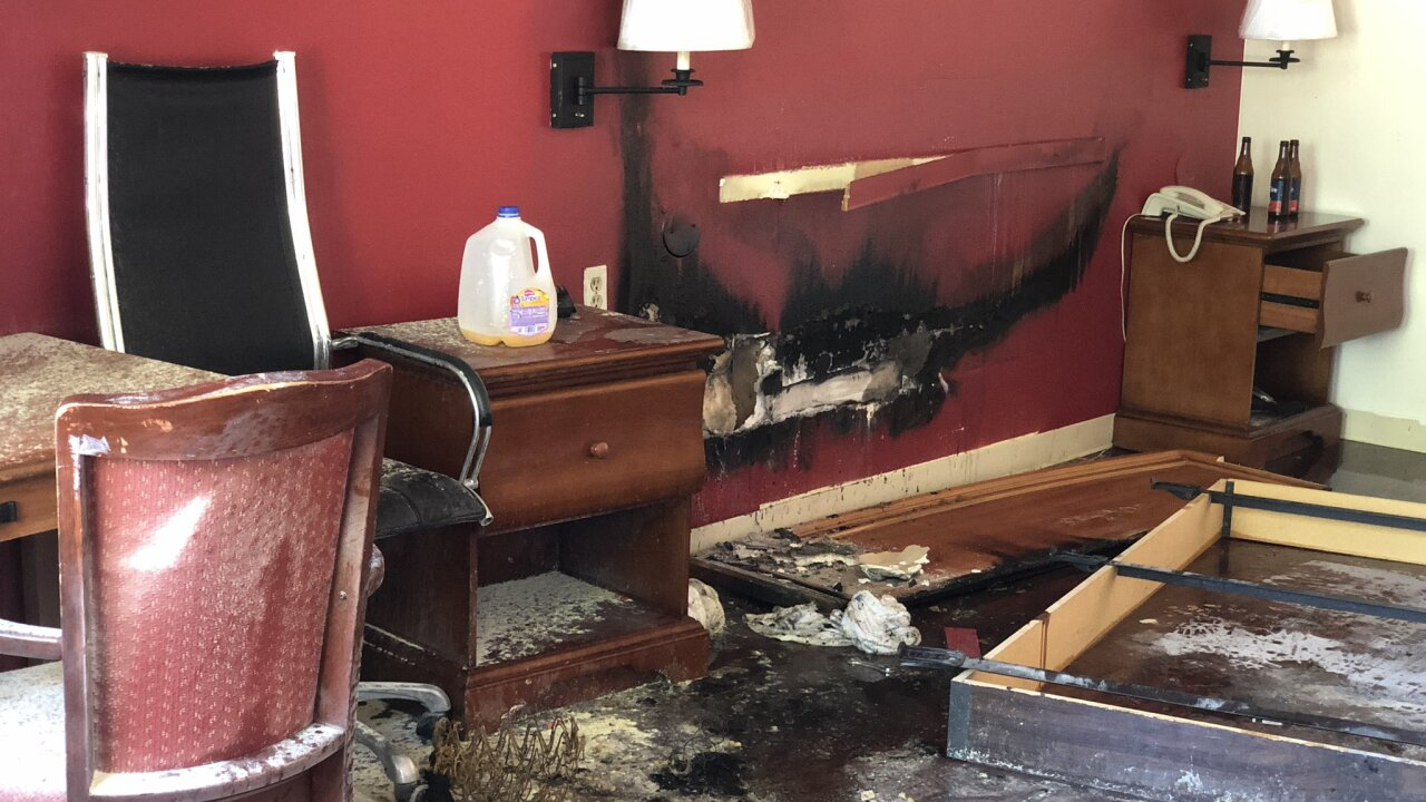 SLC fire crews respond to motel fire