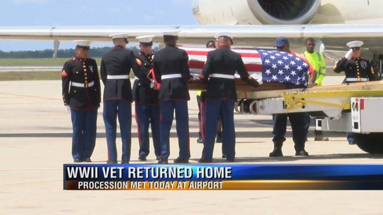 World War II Veteran's Remains to Be Escorted from Tallahassee to Dothan, AL 2