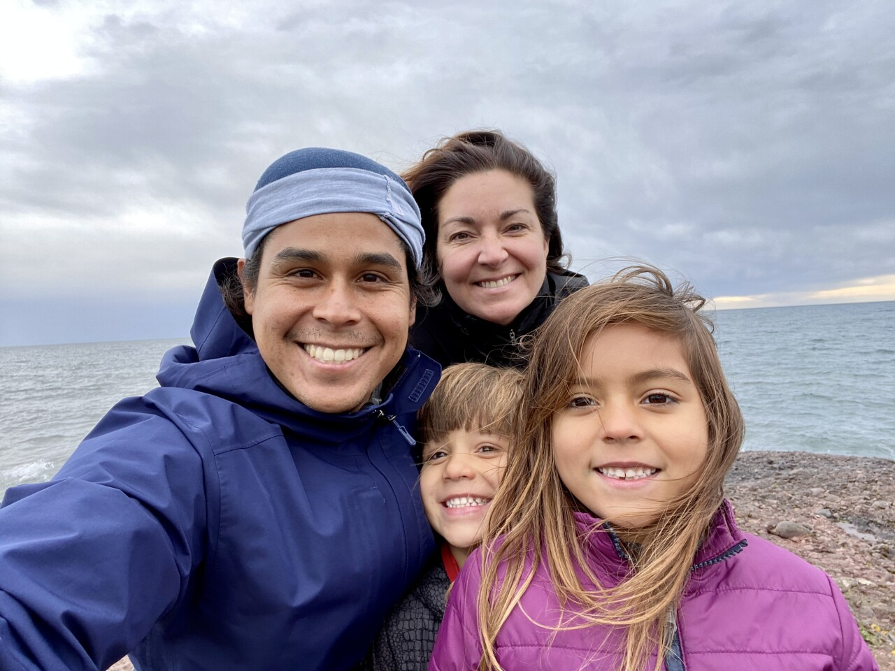 Jose Aste and his family