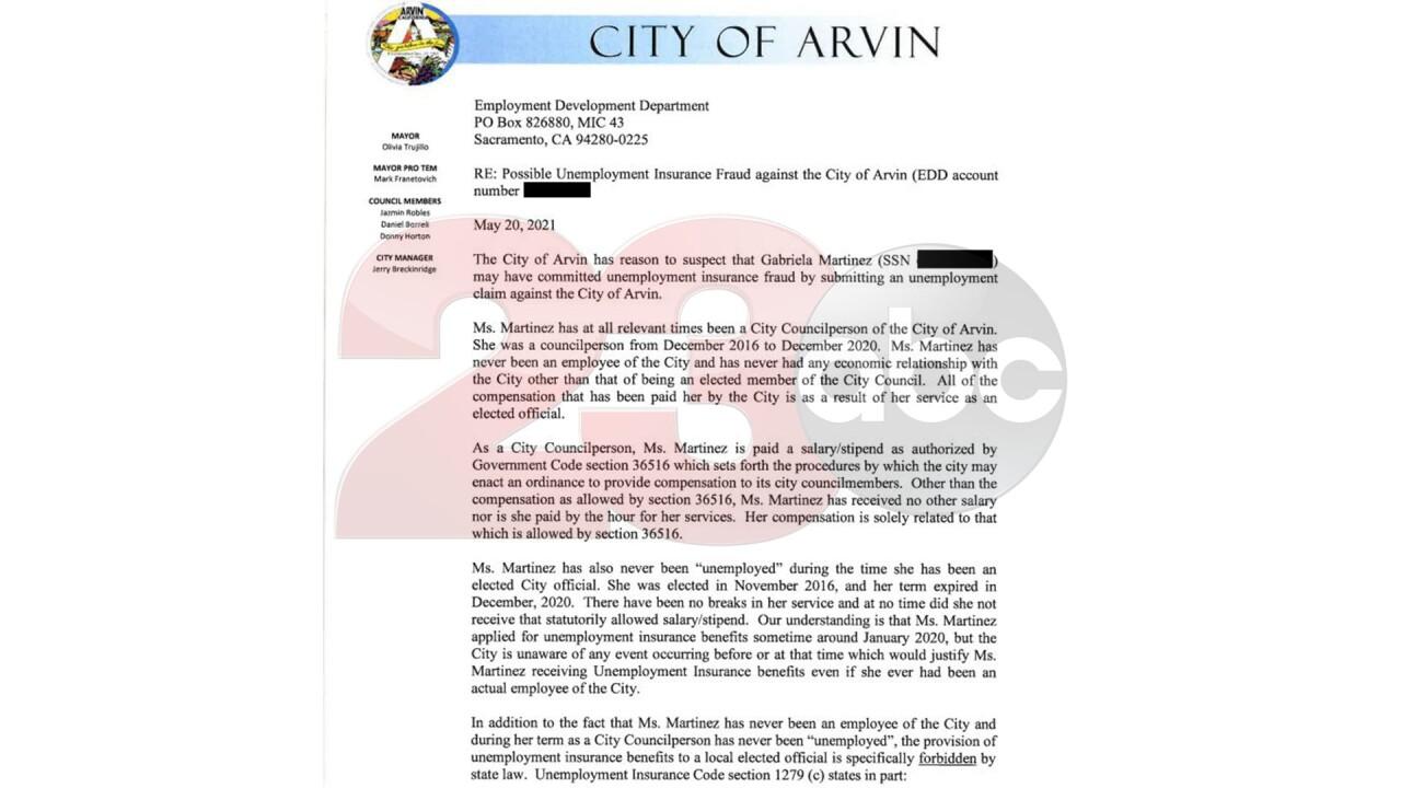 Martinez EDD Letter 1