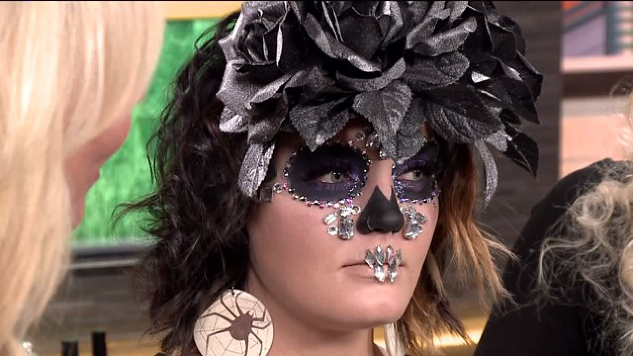 Makeup tutorial for a glam sugar skull look forHalloween