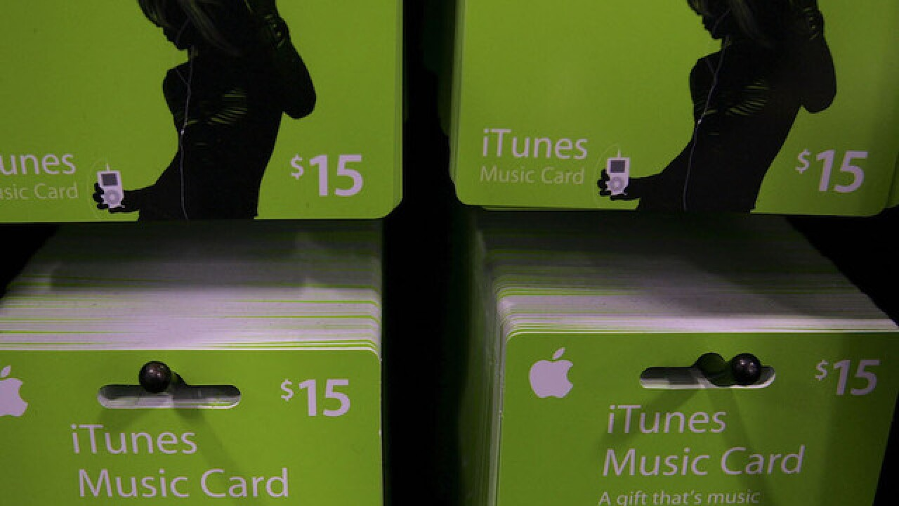 Apple warns against iTunes card scam