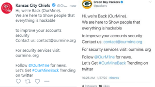Twitter accounts belonging to NFL teams hacked