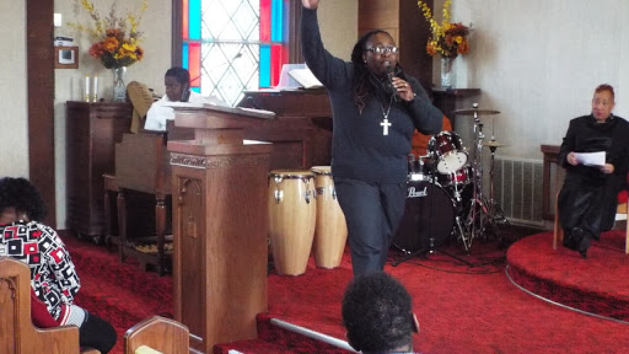Pastor Lesley Jones at Truth and Destiny United Church of Christ
