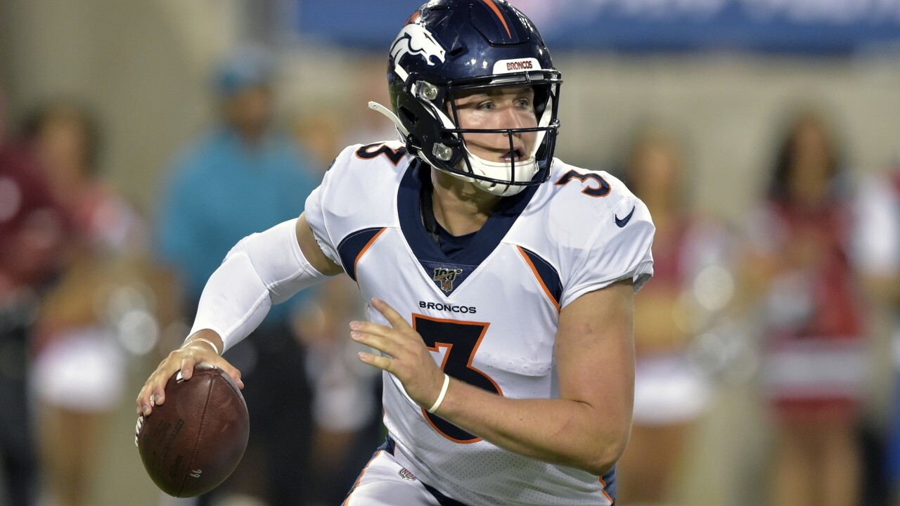 Broncos rookie Drew Lock returning to practice this week