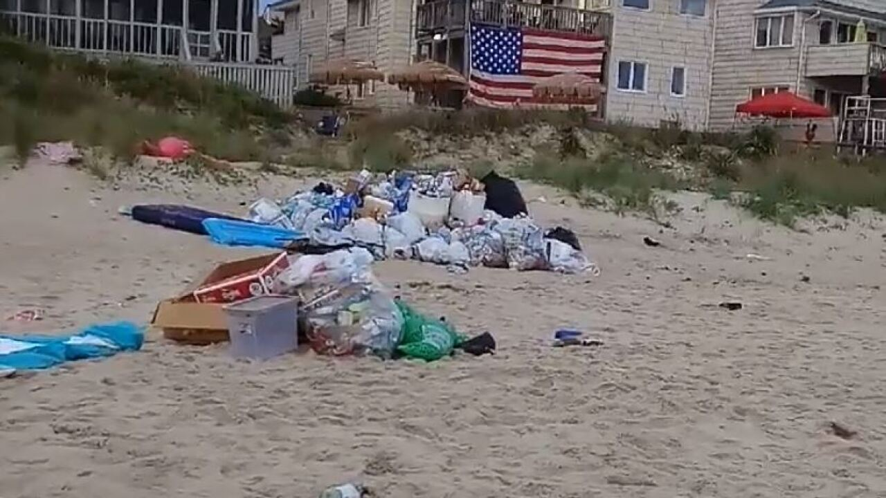 "Over 10 tons of trash and debris cleared from Chic's Beach after ""Floatopia"""