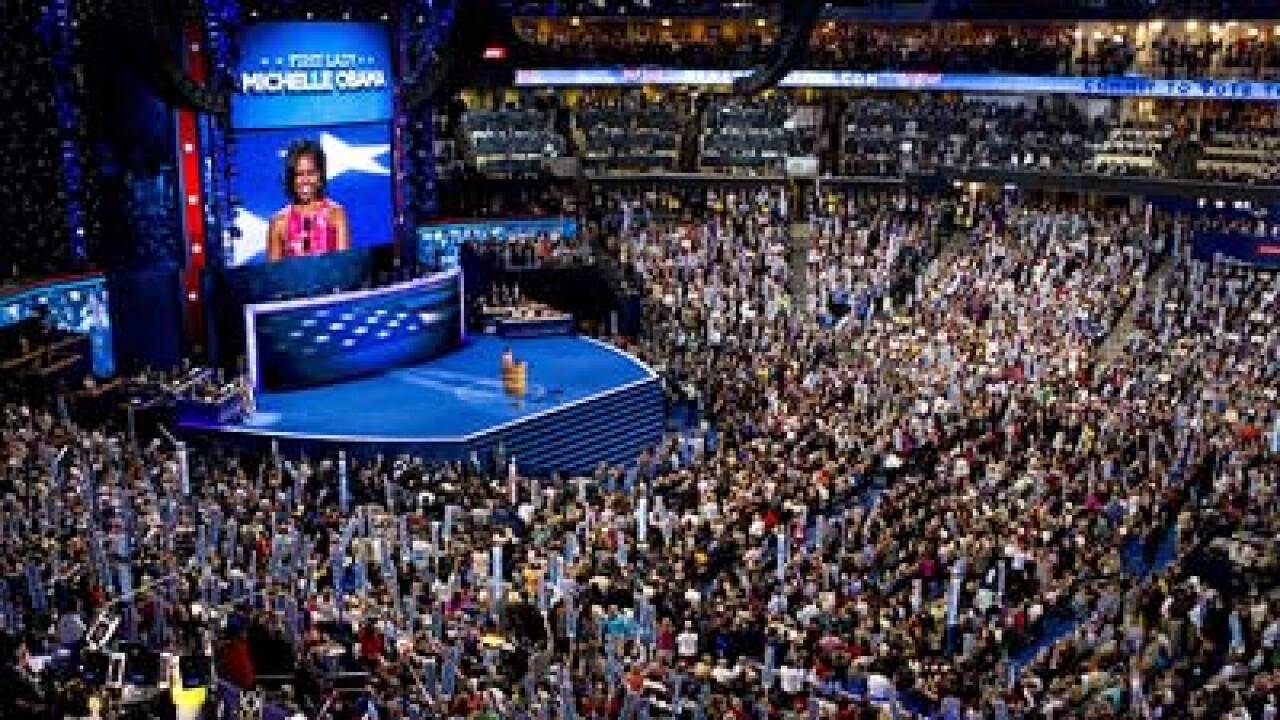 Obama praised, Romney pilloried at Democratic convention