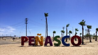 Fears about possible coronavirus infections from hard-hit Arizona and regional politics south of the U.S.-Mexico border saw American vacationers turned back on the road to the popular tourist resort of Puerto Peñasco over the long July 4 weekend. Photo via AP.